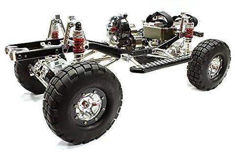 Integy RC Modélisme Hop-ups C25404SILVERBLACKT2 Usinée 1/10 Limited Edition 4WS Trail Roller 4WD Off-Road Scale Crawler ARTR