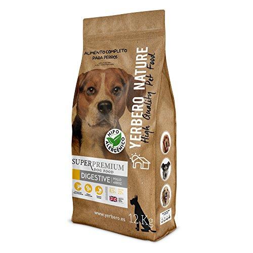 YERBERO Nature Digestive Comida hipoalergenica (Pollo y arroz) para Perros 12kg