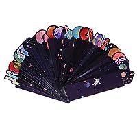 HonXins 30 Pcs Novelty Universe Theme Bookmarks Set Beautiful Paper Bookmarks Bulk