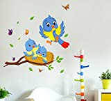 #8: Decals Design Wall Stickers Happy Birds Family Wall Decor For Kids Bedroom Decoration Vinyl (PVC Vinyl, 60 x 45 cm, Multicolor)