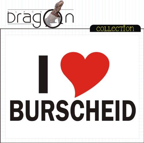 T-Shirt mit Städtenamen - i Love Burscheid - Herren - unisex Weiß