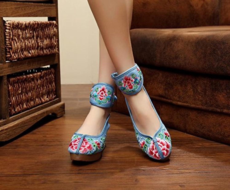GuiXinWeiHeng xiuhuaxie (new)-Gestickte Schuhe Leinen Sehnensohle ethnischer Stil erhte weibliche Schuheö