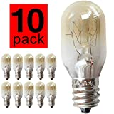 Glow Light Bulb T20 10Pieces/Pack 15W 120V E14 Screw Cap Pygmy Lamps Microwave/Oven Rated Light Bulbs Crystal Rock Salt Lamp 300 Degree