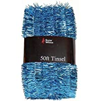 50 Foot Extra Long Tinsel Pack In Blue - Xmas Decorations
