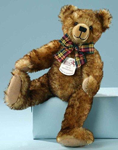 Preisvergleich Produktbild Mohair-Scheibenbär Teddybär gold 31 cm mit Brummstimme