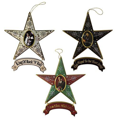 Elvis Presley Star Collectible Christmas Ornament 3-teilig -