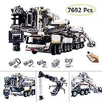 Yavso 7692Pcs Liebherr Crane Custom Building Blocks with RC Motor, Hardest Building Kit Construction Toy Gift for Adult