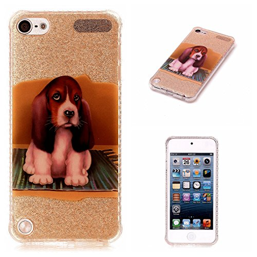Price comparison product image iPod Touch 5/6 Case, iPod Touch 5/6 Cover Case, Cozy Hut [Shiny Case] [Bling Crystal] Pretty Fashion Ultra Thin Sparkle Case Premium 2 Layer Hybrid Semi-transparent / Exact Fit / Anti-Scratch / Soft Case for iPod Touch 5/6 - Carpet dog