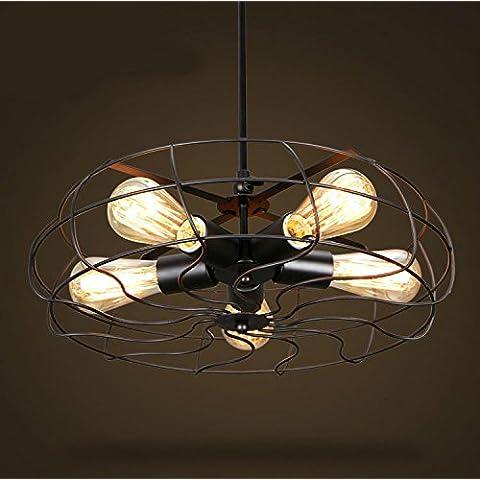 LIVY Nostalgia retrò ventilatori industriali giù lampadario regolazione classico Lampadario arti creative Restaurant Cafe