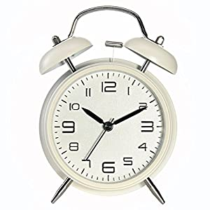 Reloj Despertador,Drillpro Alarm Clock,Despertador Clásico con Doble Campana y Luz de Noche,Dial Grande 4 pulgadas,Reloj de Cuarzo Analógico con Fuerte Alarma,Sin Hacer Tictac-Hermoso y Fácil de Leer. de Drillpro
