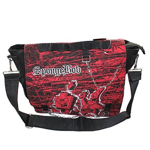 b - Umhängetasche Kuriertasche Tasche zum Umhängen Schule (Spongebob Geschenk-taschen)