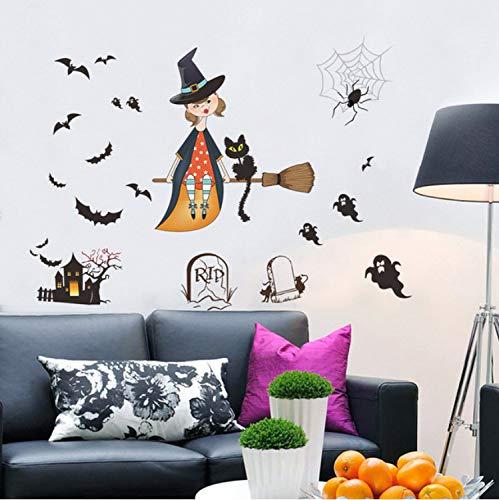 xmydeshoop Halloween-Hintergrund-Wand-Dekorations-Entfernbare Wand-Aufkleber-Halloween-Dekorations-Yard-Dekoration-Äußeres