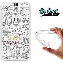 Becool® Fun - Funda Gel Flexible para Elephone P8000, Carcasa TPU fabricada con la mejor Silicona, protege y se adapta a la perfección a tu Smartphone y con nuestro exclusivo diseño. Cosas de vacaciones
