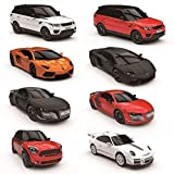 CMJ RC Cars Télécommande Supercar Gamme Lumières LED, 2.4GHZ Course 10 Ensemble - Audi R8 GT Noir Mat, 1:24 Scale