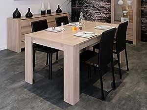 Matelpro-Table de salle à manger contemporaine coloris bruges Olivia