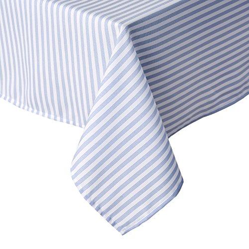 Deconovo Tischdecke Wasserabweisend Tischwäsche Lotuseffekt Tischdecke Deko 130x220 cm Hellblau