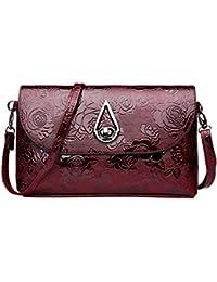 c68c750c6f352 DOGZI Handtasche Damen Klein Transparente Tasche Rucksack Damen Ledertasche  Kleine Mode Frauen…