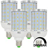 MENGS® 4 Stück Dimmbar E27 LED Lampe 25W AC 220-240V Warmweiß 3000K 85x5730 SMD Mit Aluminium Platte