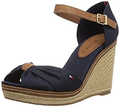 tommy hilfiger emery 54d damen offene sandalen mit keilabsatz blau midnight 403 41 eu. Black Bedroom Furniture Sets. Home Design Ideas