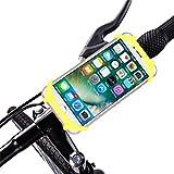 TIREOW - Porta Telefono da Bicicletta elettrica, Supporto per Telefono in Silicone, Rotazione a 360°, per Smartphone e dispositivi GPS, Adatto a Schermo da 4,0 a 6,0 Pollici Giallo