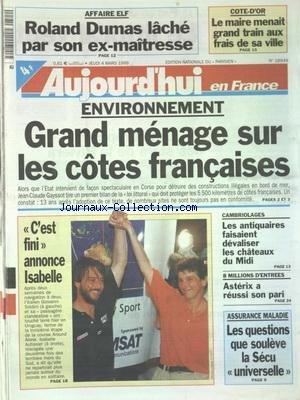 AUJOURD'HUI EN FRANCE [No 16949] du ...