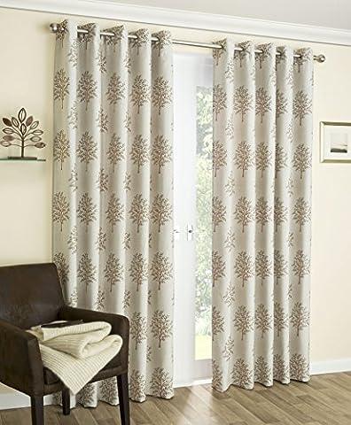 "Luxuriöse Baum Design-interlined, Öse, thermische blockout, Enhanced Living curtains- (mulbry Kupfer), 106"" x 72"""