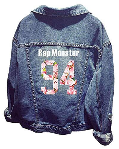SERAPHY Unisex BTS Jeansjacke für Army BTS KPOP Hoodies Kapuzenpullover Suga Jin Jimin Jung Kook J-Hope Rap-Monster V-HZ-94R -