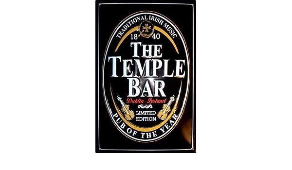 Le Temple Bar Logo Panneau De T/ôle M/étal Panneau En /Étain 20 x 30 cm