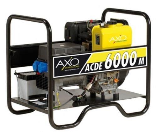 Generatore gruppo elettrogeno axo acde 6000m-diesel-monofase avviamento elettrico/manuale
