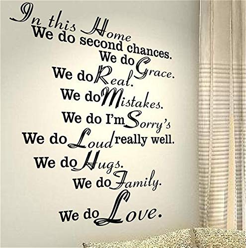 wandaufkleber spruch disney In diesem Haus haben wir die zweite Chance, dass wir die Gnade für das Wohnzimmer tun