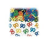 Amscan Zahlenkonfetti 90 mit Sternchen, bunt