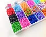 #8: Red Rock Loom Band Kit with 4200 Colourful Rubber Bands For Making Bracelets , Key chains , Necklaces & Many Other Things