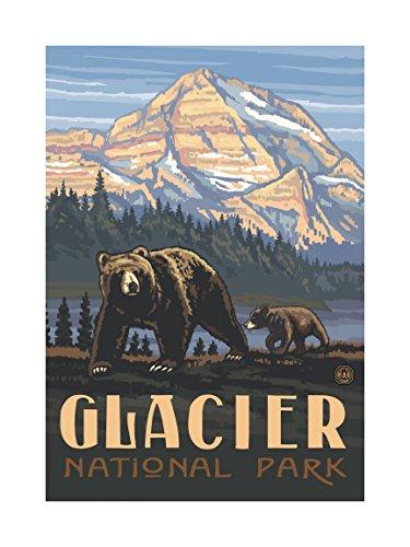 Northwest Art Mall pal-0411l RGB Glacier National Park Rockies Grizzly Bears Artwork von Paul A. lanquist, 18von 24