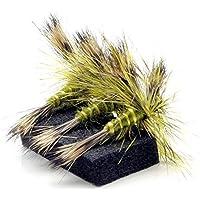 Lakeland Fishing Supplies 3, 6 o 12 Moscas Verdes Drake para Pesca con Mosca, Hook Size 10