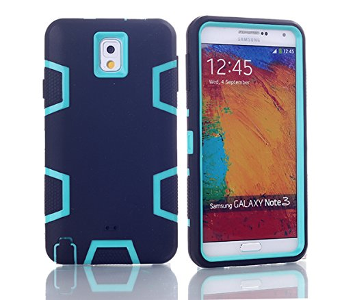 Samsung Galaxy Note 3 N9000 Hülle, Forhouse Ultra Slim [TPU + PC][Dual Layer][Roboter-Muster] Schutzhülle [Anti-Rutsch-] Shock-Absorption-Abdeckung für Samsung Galaxy Note 3 N9000 (Schwarz + Grün) (Galaxy Note 3 Fall Roboter)