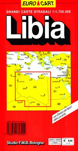 Libia. Carta stradale 1:1.750.000 (Euro Cart)