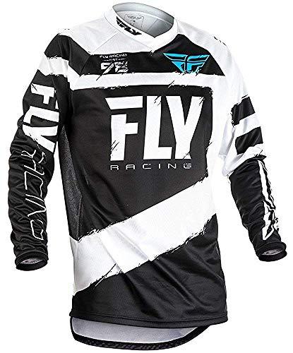 Fly Racing 2018 F-16 Jeunesse Motocross VTT Maillot - Gris/Noir - Gris/Noir, Medium