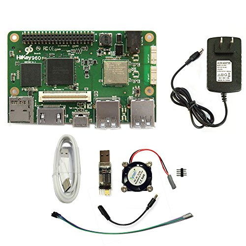 HiKey 960 Single Board Computer Octa Core - 96Boards Referenz-Entwicklungsplattform (4GB LPDDR4 & 32GB eMMC) läuft mit AOSP & Linux - Single-board-computer