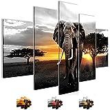 Bilder 150 x 100 cm - Afrika Bild - Vlies Leinwand - Kunstdrucke -Wandbild - XXL Format - mehrere Farben und Größen im Shop - Fertig Aufgespannt !!! 100% MADE IN GERMANY !!! - 001253c