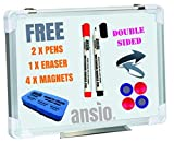 #9: Whiteboard | Double-Sided Magnetic Drywipe Dry Erase | Lightweight Aluminum Frame | 42 x 30 CM