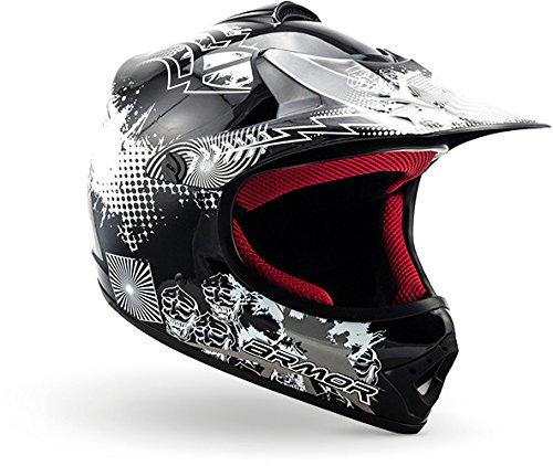 "ARMOR · AKC-49 ""Black"" (Schwarz) · Kinder-Cross Helm · Moto-Cross Kinder Enduro Sport..."
