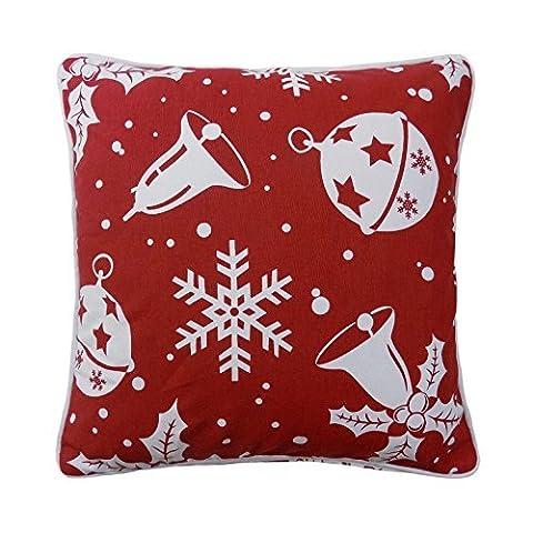 Boules de Noël cloches Flocons de neige LUXE 100% coton