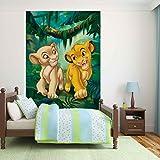 Disney Der Koenig Der Loewen Simba Nala - Wallsticker Warehouse - Fototapete - Tapete - Fotomural - Mural Wandbild - (3208WM) - XXL - 206cm x 275cm - VLIES (EasyInstall) - 2 Pieces