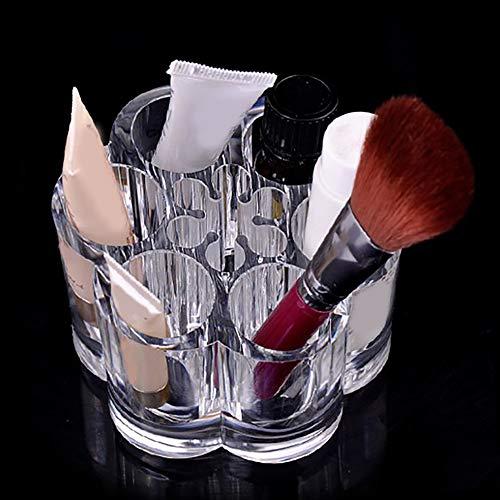 SEGRJ Plum Blossom Clear Acryl-Makeup Brush Holder Cosmetic Organizer Display Stand-Transparent -
