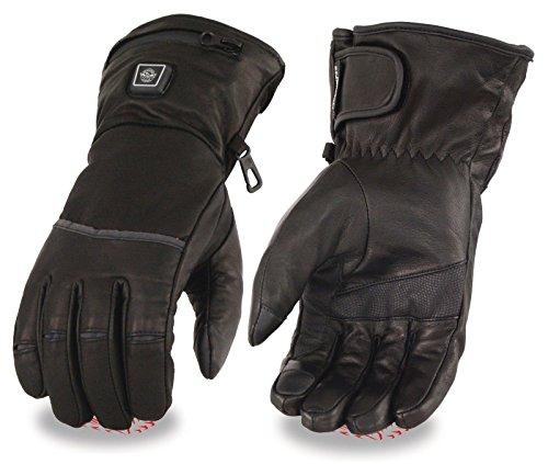Herren Motorrad beheizte Handschuhe W/TOUCH SCREEN Finger Butter weiches Leder Regular) Regular xl Butter Sweatshirts