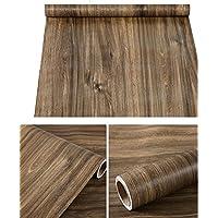 Lámina adhesiva de vinilo rústico sintética grano de madera papel de contacto para maletero de cajón para gabinetes de cocina encimera Backsplash mesa escritorio muebles 24pulgadas por 16pies