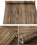 Folie, selbstklebend, Vinyl Rustikal Faux Holzmaserung Kontakt Papier Regal Schublade Liner für Küche Schränke Tisch Duett Arbeitsfläche Schreibtisch Möbel 61cm von 16Füße