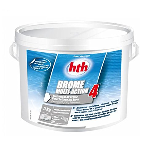 Hth - Brome Multifonction Piscine et Spa - 5kg (Pastille 20g)