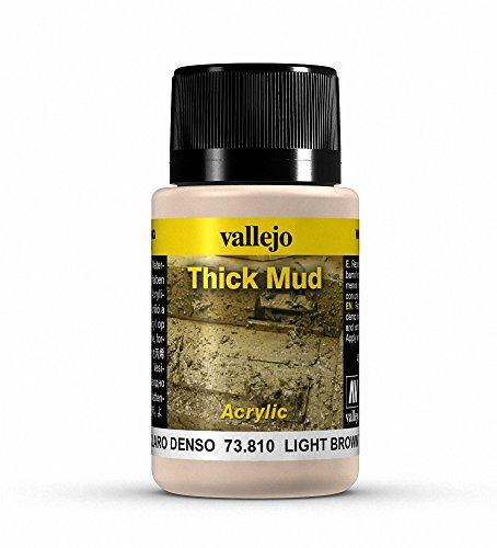 Vallejo Mittel Thick Mud für verwitterte Optik, 40ml, Hellbraun -