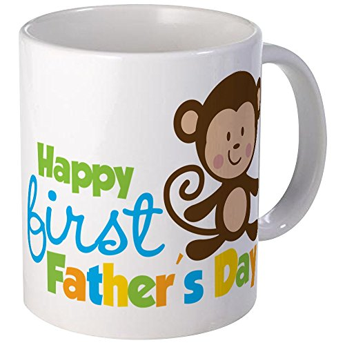 CafePress - Boy Monkey Happy 1St Fathers Day - Unique Coffee Mug, 11oz Coffee Cup, Tea Cup by CafePress